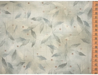Tissu patchwork japonais feuilles vertes fond vert pâle