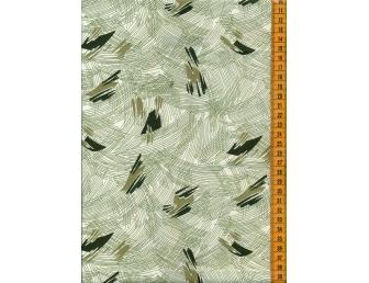 Tissu patchwork japonais LECIEN graffiti vert