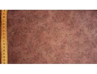Tissu patchwork japonais LECIEN épis fond marron foncé
