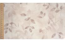 Tissu patchwork japonais LECIEN feuillage fond écru