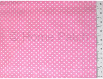 Tissu japonais patchwork LECIEN rose avec pois blanc