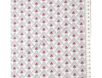 Tissu patchwork moderne Moda Chic Neutral triangles