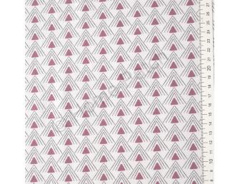 Tissu patchwork moderne Moda Chic Neutral triangles