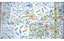 Tissu patchwork japonais F. NAKAYAMA fond blanc