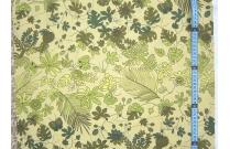Tissu patchwork japonais F.NAKAYAMA fond moutarde