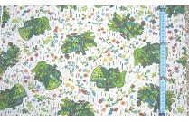 Tissu patchwork japonais F. NAKAYAMA arbre fond beige