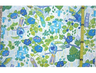Tissu patchwork japonais F.NAKAYAMA oiseau fond blanc