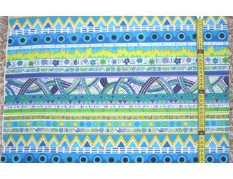 Tissu patchwork japonais F. NAKAYAMA rayures bleues