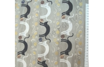 Tissu patchwork japonais Quilt Gate avec chats dos ronds
