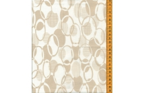 Tissu patchwork japonais H. HANAOKA ovale fond blanc