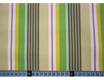 Tissu patchwork japonais Kokka rayures vertes