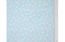 Tissu patchwork japonais LECIEN renard rose fond bleu