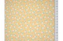Tissu patchwork japonais LECIEN renard vert fond jaune
