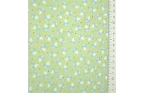 Tissu patchwork japonais LECIEN renard bleu fond vert