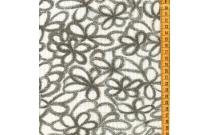 Tissu patchwork japonais H. HANAOKA tag fleur noir