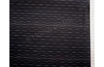 Tissu patchwork japonais épais tissé LECIEN noir rayé