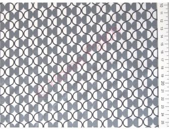 Tissu patchwork moderne gris et écru