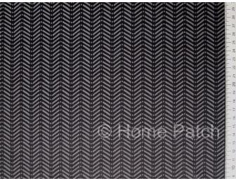 Tissu japonais patchwork moderne chevron noir et anthracite