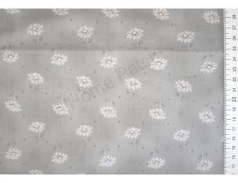 Tissu patchwork japonais DAIWABO marguerites fond gris