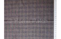 Tissu patchwork japonais tissé épais effet écossais marron foncé