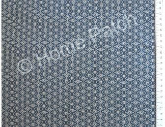 Tissu patchwork japonais bleu motifs étoiles asanoha