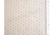 Tissu japonais motif asanoha fond écru