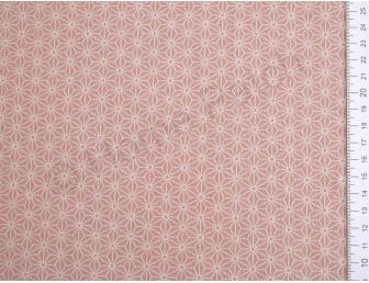 Tissu patchwork japonais motif asanoha fond rose