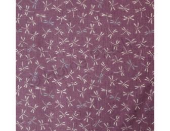 Tissu patchwork japonais libellules fond parme