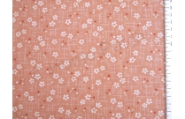 Tissu patchwork japonais motif sakura fond rose