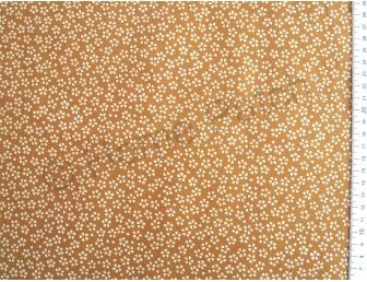 Tissu patchwork japonais ocre jaune avec sakuras écrus