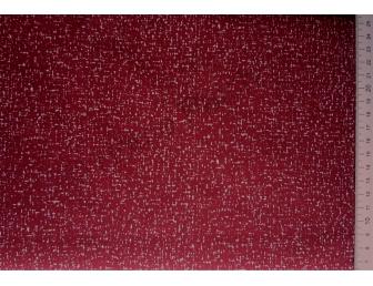 Tissu japonais patchwork bordeaux et pointillés blancs